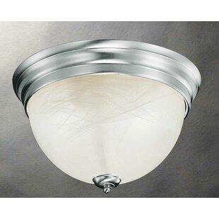 Troy 2-Light Flush Mount by Volume Lighting