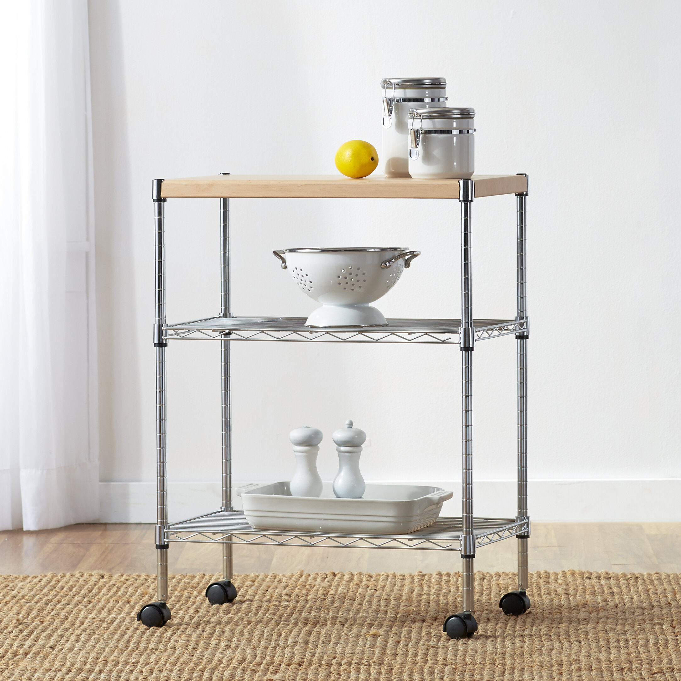 Wayfair Basics Adjule Kitchen Cart
