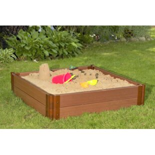 Tool-Free Classic Sienna Two Inch Series 4 Ft X 4 Ft Composite Square Sandbox Kit By Frame It All