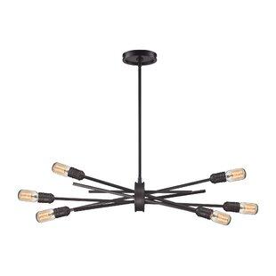 Chandeliers modern contemporary designs allmodern byler modern 6 light sputnik chandelier mozeypictures Image collections