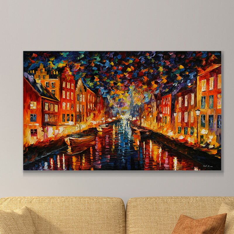 Wall Art Print Above Couch City Artwork by Leonid Afremov