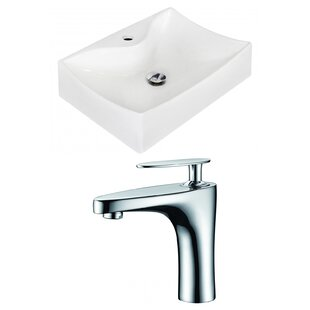 Savings Ceramic 21.5 Bathroom Sink with Faucet By Royal Purple Bath Kitchen