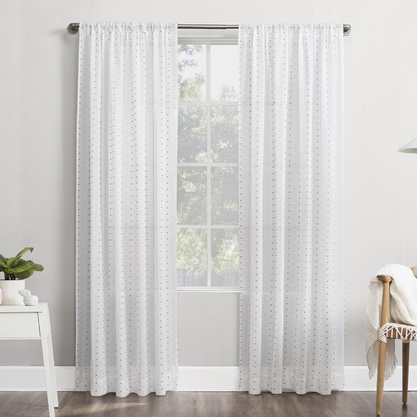 Dotted Swiss Sheer Curtains Wayfair