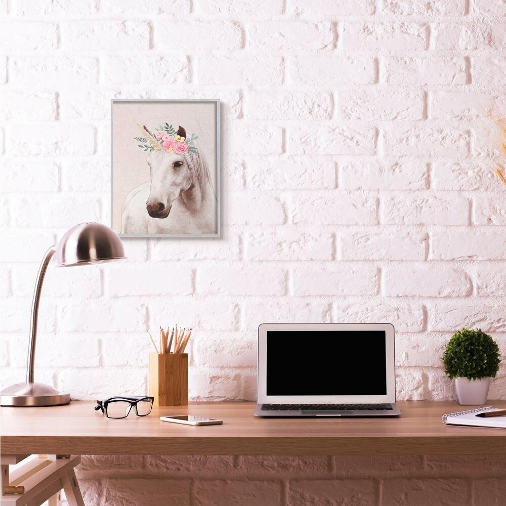 Stupell Industries But First Brunch Phrase Glam Breakfast Table Design by Ziwei Li Black Framed Wall Art 11 x 14 White