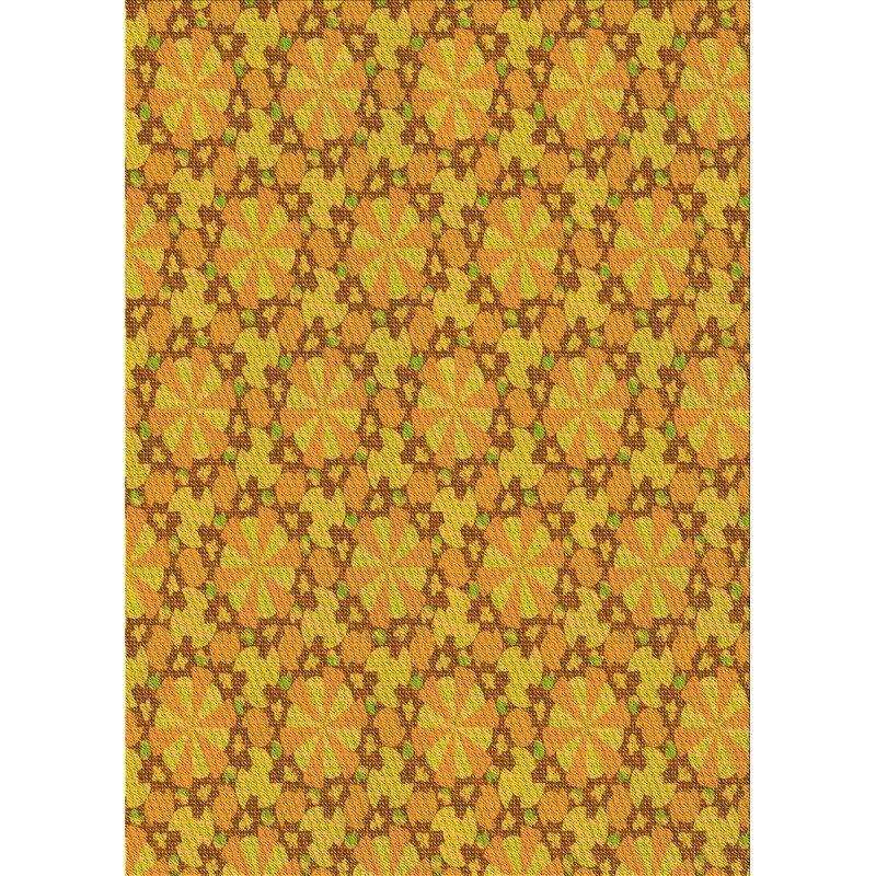 East Urban Home Staetler Floral Wool Yellow Area Rug Wayfair