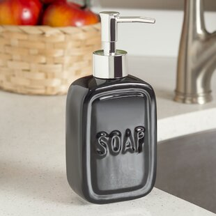 Price comparison Kayson Ceramic Square Print Soap Dispenser By Wade Logan