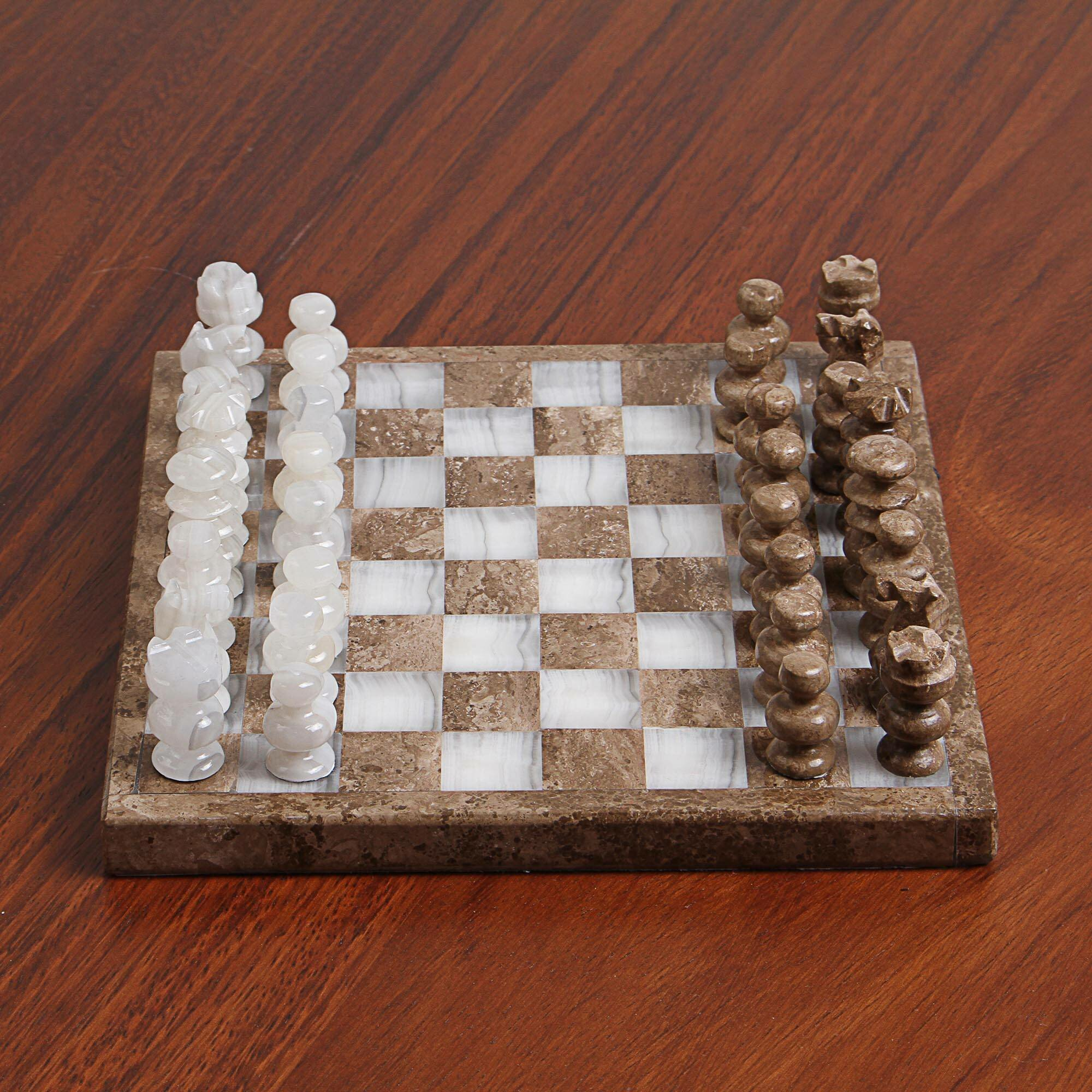 Bloomsbury Market Handmade Chewsville Brown Chess Board Game Wayfair