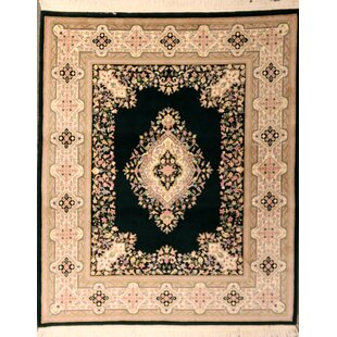 Guide to buy Pyatt One-of-a-Kind Indian Kerman Hand-Knotted Wool Black Area Rug ByAstoria Grand