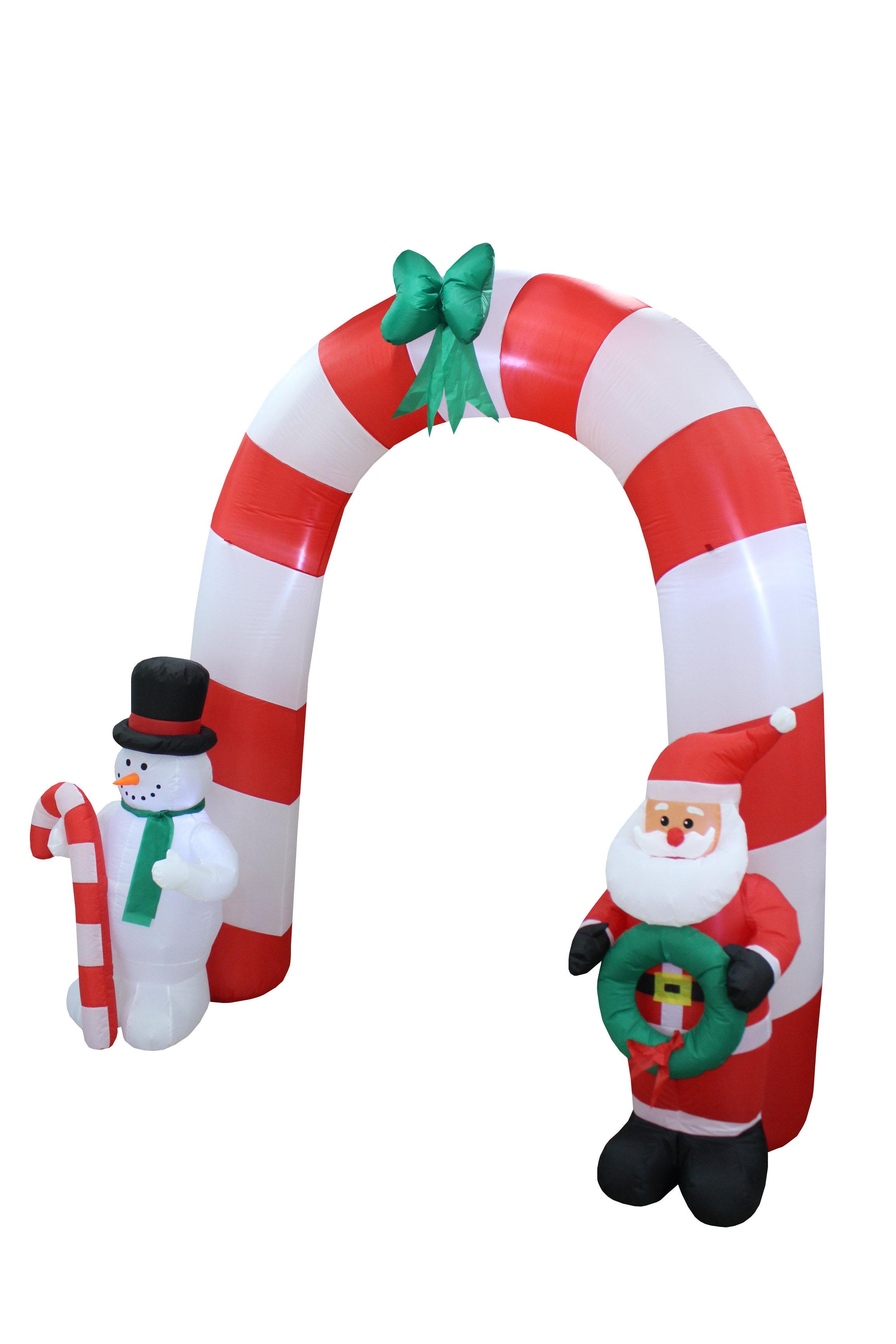 The Holiday Aisle Santa Claus Snowman Bow Tie Arch Christmas ...