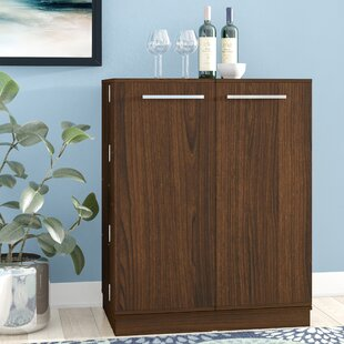 Hearne Expandable Bar with Wine Storage by Ebern Designs