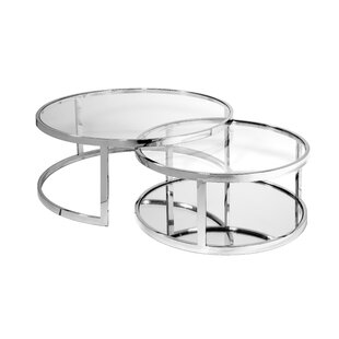 Lafe 2 Piece Nesting Tables by Everly Quinn