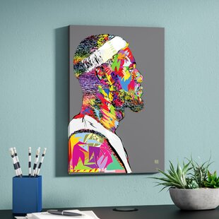 'LeBron' Graphic Art Print on Wrapped Canvas By East Urban Home