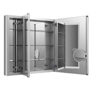 Verdera Aluminum Medicine Cabinet with Adjustable Flip Out Flat Mirror, 40