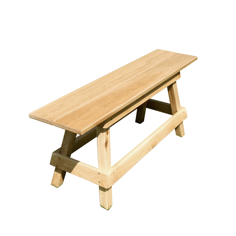 Gracie Oaks Langsa Wooden Garden Bench
