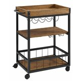 Solomon Kitchen Cart with Manufactured Wood Top by Gracie Oaks