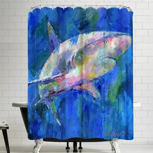 East Urban Home Richard Wallich Shark Shower Curtain