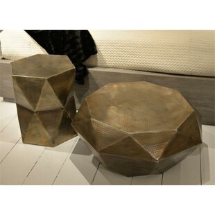 Bloomsbury Market Baumgardner Geometric 2 Piece Coffee Table Set