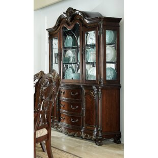 Chalus Lighted China Cabinet by Astoria Grand