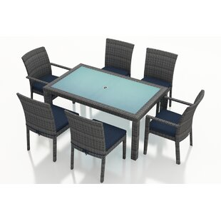 Hobbs 7 Piece Sunbrella Dining Set with Cushions