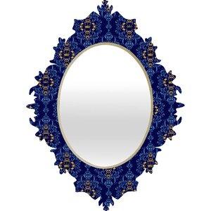 Belle13 Royal Damask Pattern Baroque Mirror