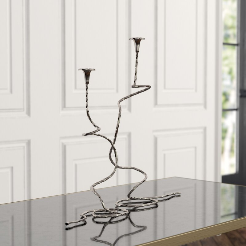 Studio A Morning 2 Piece Metal Tabletop Candelabra Set Perigold