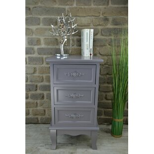 3 Drawer Bedside Table By Lily Manor