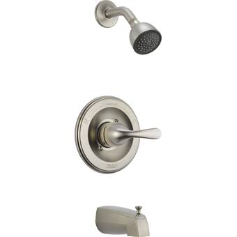 Delta Other Core Diverter Tub And Shower Faucet With Lever Handle And Monitor Wayfair