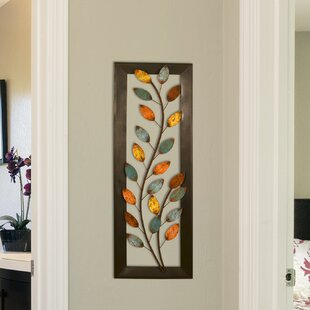Winding Leaves Panel Wall Décor