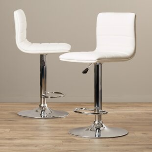 Alexandrea Adjustable Height Swivel Bar Stool by Wade Logan