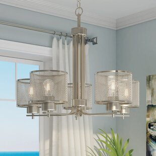 Beachcrest Home Mulligan Indoor 5-Light Shaded Chandelier