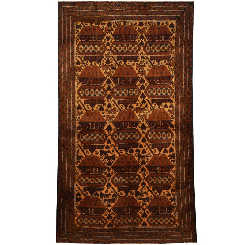 Isabelline Prentice Tribal Balouchi Hand Knotted Wool Ivory Navy Area Rug Wayfair