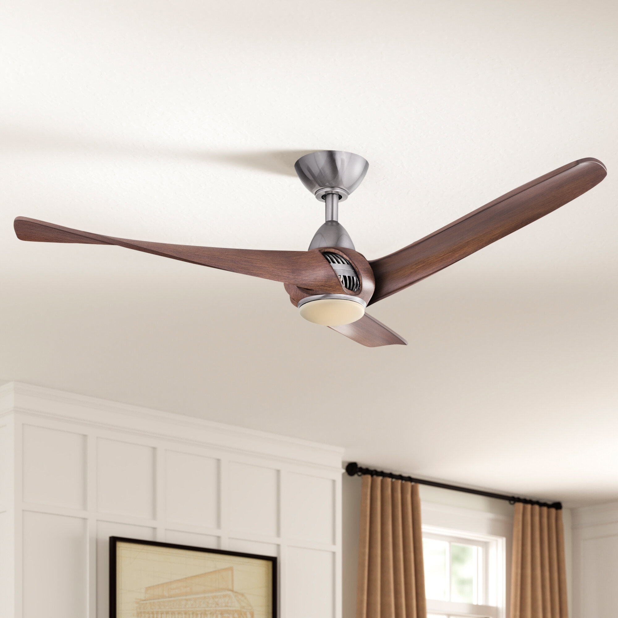Three Posts 52 Cairo 3 Blade Led Ceiling Fan With Remote Control And Light Kit Included Reviews Wayfair