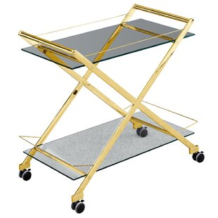 Pagan Two-Tier Rolling Bar Cart