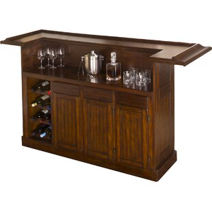 Darby Home Co Danton Bar with Wine Storage