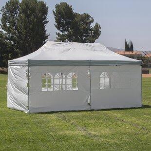 Belleze 10 Ft. W x 20 Ft. D Steel Pop-Up Party Tent