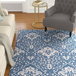 Check Prices Fairgrove Hand-Woven Blue/White Area Rug ByCharlton Home
