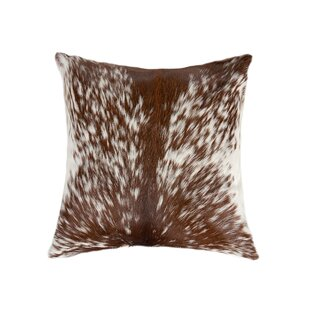 Cluck Cowhide Throw Pillow