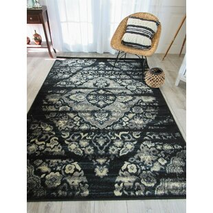 Read Reviews Picard Foyer Black/Gray Area Rug ByBungalow Rose