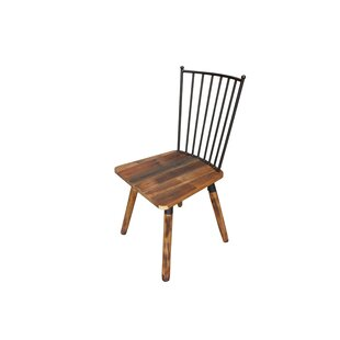 Burnham Wood Side Chair (Set of 2) Loon Peak
