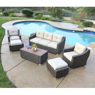 Leib Luxury 6 Piece Sofa Set with Cushion