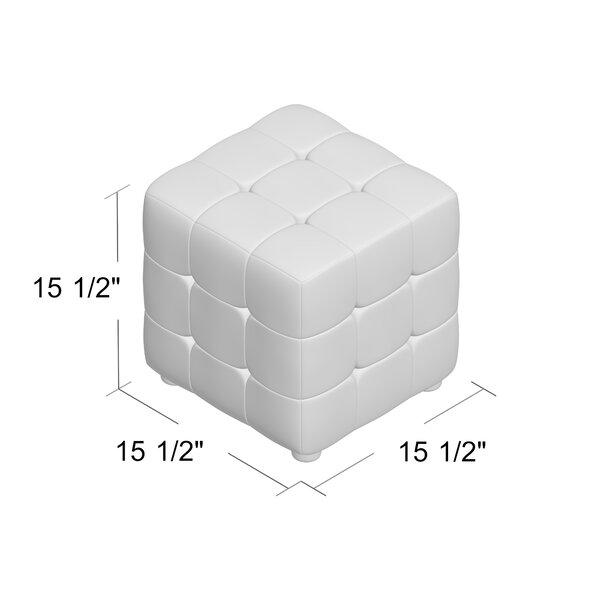 "Chanson 15.5"" Velvet Tufted Square Cube Ottoman"