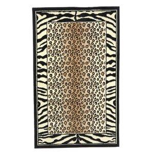 Allicia Black/Ivory Area Rug