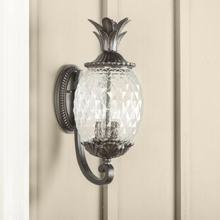 Kyra 2-Light Outdoor Sconce by Beachcrest Home