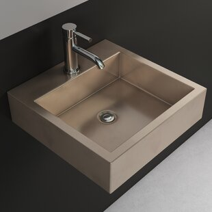 Metal Square Wall Mount Bathroom Sink