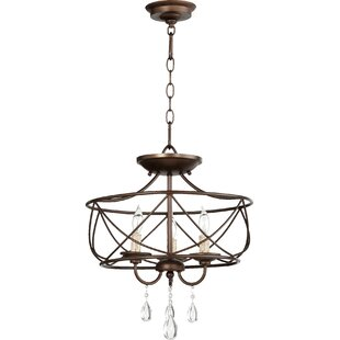Searching for Cilia 3-Light Drum Chandelier By Quorum