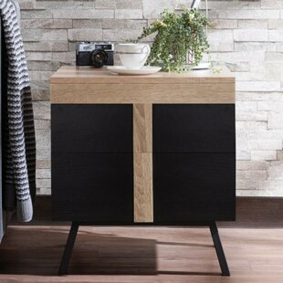 Evgenii Transitional Square Wood and Metal End Table by Union Rustic