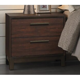 Union Rustic Jeffries 2 Drawer Nightstand