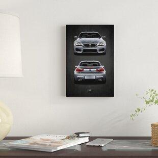 'BMW M6' Graphic Art Print on Canvas ByEast Urban Home