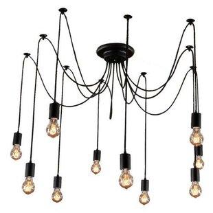 Edison 10 Light Cluster Pendant (Set of 10) by OHR Lighting