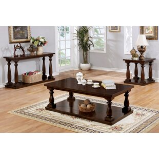 Bardwell Rustic 3 Piece Coffee Table Set Canora Grey